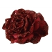 Christmas Red Silk Sparkle Rose Clip - 14cm