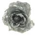 Silver Silk Sparkle Rose Clip - 14cm