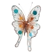 Teal, Copper & Brown Double Winged Butterfly Clip - 30cm X 20cm