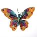 Multi Colour Butterfly On Clip - 18cm