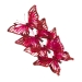 Christmas Red Organza Butterfly With Feather Detail - Pack Of 4
