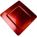 Standard Red Square Charger Plate - 33cm x 33cm