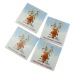 Reindeer Coasters - 4 Pack