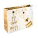 Shopper Champagne Bottle and Glass Design Gift Bag