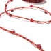 Burgundy Ribbon Of Pearls & Love Hearts Entwined With Delicate Voile - 10m Roll