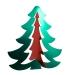 Green & Red 3D Display Tree - 65cm x 58cm