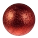Burnt Red Glitter Polystyrene Bauble - 50cm