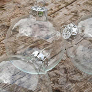 Clear Glass Baubles